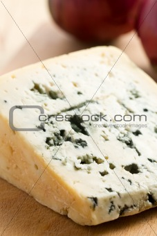 blue cheese on kitchen table