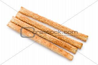 grissini sticks with sesame seeds