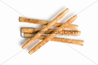 grissini sticks with sesame seeds