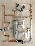copper plumbing installation and polyethylene pvc