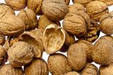 Walnuts as background texture