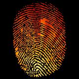 Glowing Finger Print. EPS 8