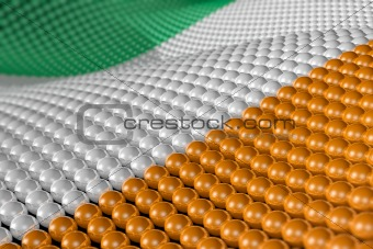 Wave of spheres in the colors of Ireland