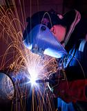 MIG welding on steel tube