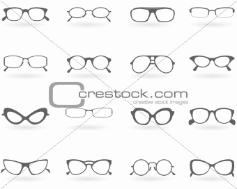 Glasses in different styles