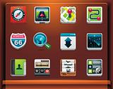 GPS navigation icons