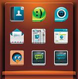 Communication and social networking icons