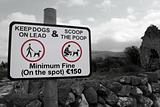 countryside scoop the poop sign