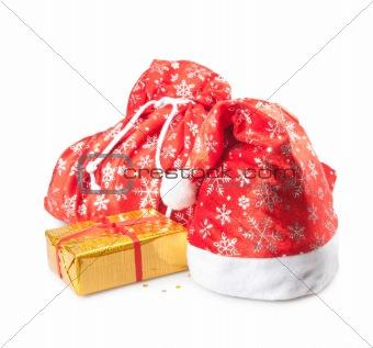 cap, bag and box