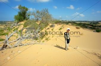 Boy among the sand