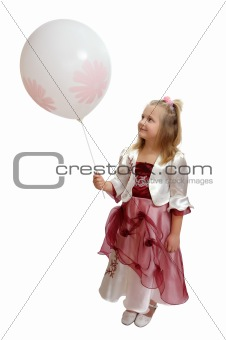 Girl with a white balloon.