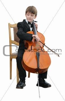 Boy playing the cello