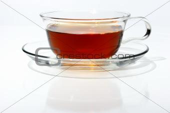 Black Tea in a glass cup