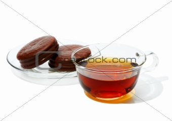 Black Tea in a glass cup