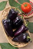 Black sweet pepper