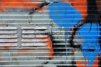 metal surface graffiti