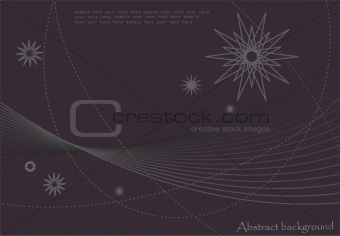 Abstract Background - Stars And Waves