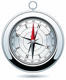 shiny silver compass