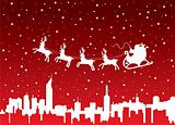 xmas holiday background with santa