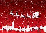 xmas holiday background with santa