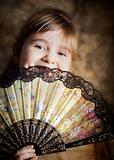 Girl with a lacy fan