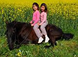 riding little girl
