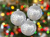 Three silver balls