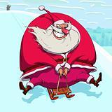 Sliding Santa Claus