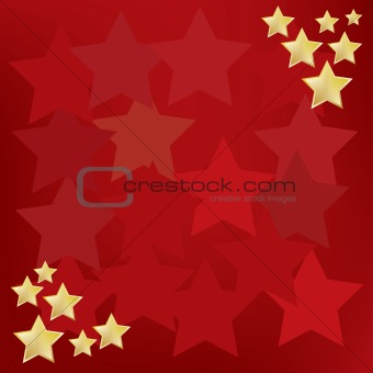 abstract background with gold stars