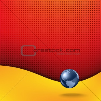 Abstract background with planet earth