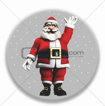 Santa In A Globe