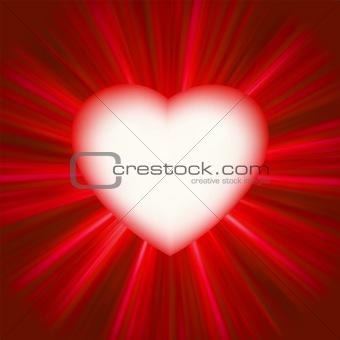 Valentine gloss heart. EPS 8