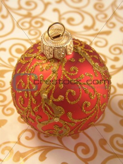 beautiful Christmas ball ornaments with gold