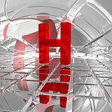 h in futuristic space