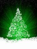 Snowflakes and Christmas tree, illustration. EPS 8