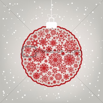 Beautiful Christmas ball illustration. EPS 8