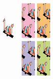 Seamless 1980 style pattern