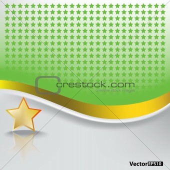 abstract background with gold star
