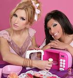 fashion barbie girls pink microwave sweets kitchen