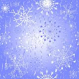 Seamless blue Christmas pattern