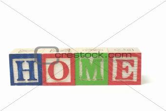 Alphabet Blocks - Home
