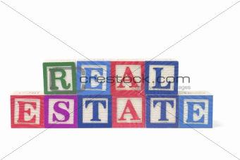 Alphabet Blocks - Real Estate