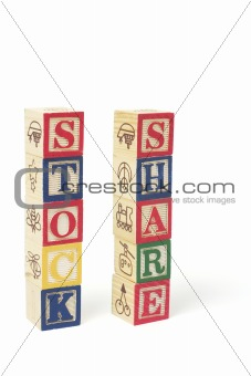 Alphabet Blocks - Stock and Share