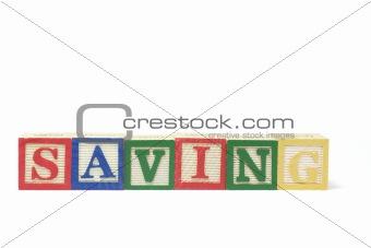 Alphabet Blocks - Saving