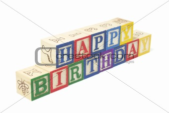 Alphabet Blocks - Happy Birthday
