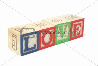 Alphabet Blocks - Love