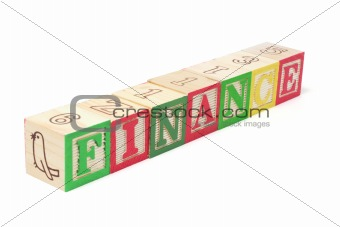 Alphabet Blocks - Finance