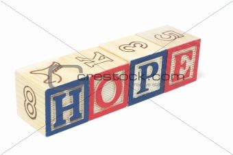Alphabet Blocks - Hope