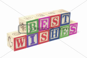 Alphabet Blocks - Best Wishes