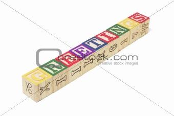 Alphabet Blocks - Greetings